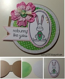 Round Bunny Card