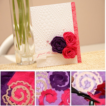 Rolled flowers card