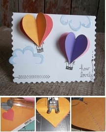 Hot Air Balloon Card