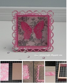 DYI Chipboard Shadow Box