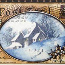 Vintage Snowy Postcard
