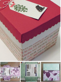 Re-purposed tissue boxes