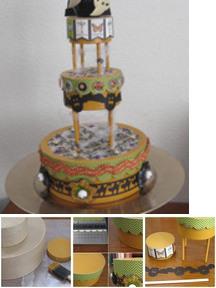 Halloween Paper Cake