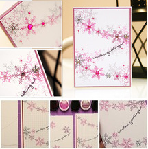 Easy snowflake cards