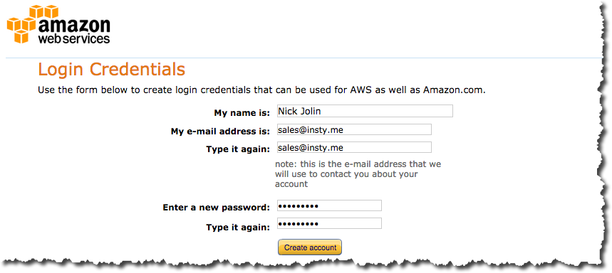 Step 1 - Signing up with Amazon SES - مكتبة الشروحات - Insty Webhosting