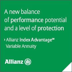 A new balance of performance potential and a level of protection. Allianz Index Advantage Variable Annuity.