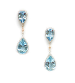 Aquamarine Pear Shape Earrings