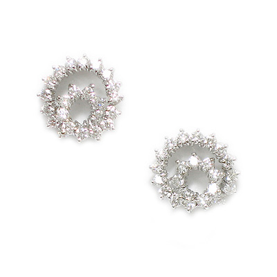 Spiral Diamond Earrings