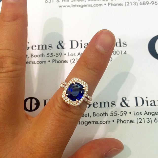 Ceylon Blue Sapphire Engagement Ring