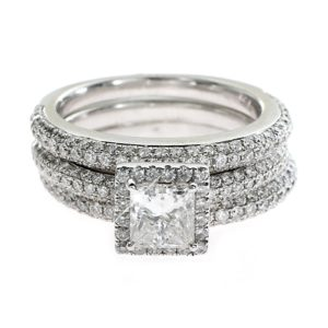 Princess Cut Diamond Halo Ring by Intagems