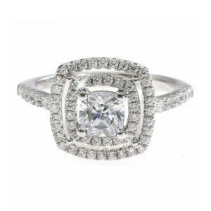 Double Halo Diamong Ring