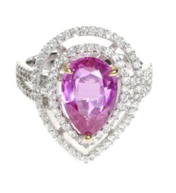 Pear Shape Pink Sapphire Ring