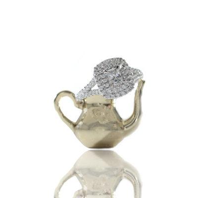 Double Halo Diamond Ring