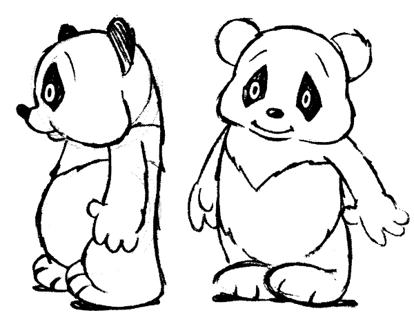 Early sketches of Andy Panda c. 1939