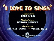 The original title card for 'I Love to Singa'