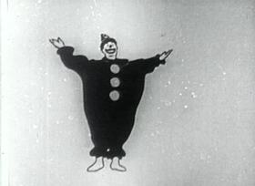 Screenshots from the 1920 Bray Studios cartoon The Clown