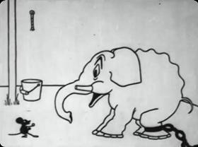 Screenshots from the 1920 Pat Sullivan Cartoons cartoon Frolics at the Circus