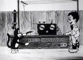 Screenshots from the 1922 Disney cartoon Puss in Boots