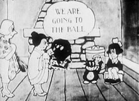 Screenshots from the 1922 Disney cartoon Cinderella