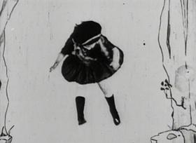 Screenshots from the 1923 Disney cartoon Alice
