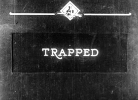 Screenshots from the 1923 Inkwell Studios cartoon Trapped