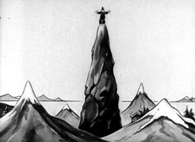 Screenshots from the 1923 Inkwell Studios cartoon Bedtime