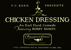 Screenshots from the 1923 Earl Hurd Productions cartoon Chicken Dressing