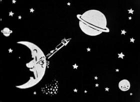 Screenshots from the 1924 Inkwell Studios cartoon A Trip to Mars