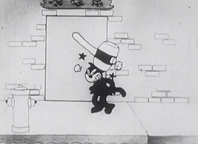 Screenshots from the 1925 Disney cartoon Alice Chops the Suey