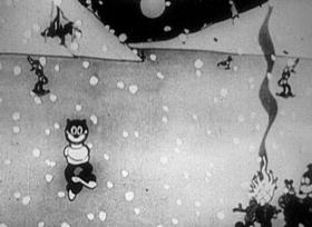 Screenshots from the 1926 Disney cartoon Alice