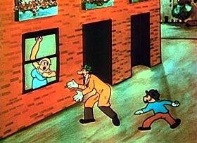 Screenshots from the 1926 Short Film Syndicate cartoon Slick Sleuths