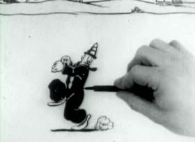 Screenshots from the 1927 Inkwell Studios cartoon Ko-Ko Needles the Boss