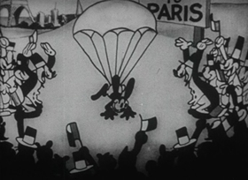Screenshots from the 1927 Disney cartoon The Ocean Hop