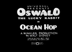 Screenshots from the 1927 Disney cartoon The Ocean Hop