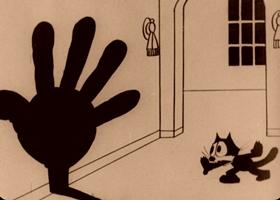 Screenshots from the 1928 Pat Sullivan Cartoons cartoon Sure-Locked Homes
