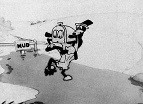 Screenshots from the 1928 Disney cartoon Rival Romeos