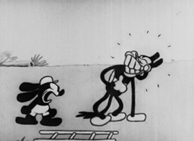 Screenshots from the 1928 Disney cartoon The Fox Chase