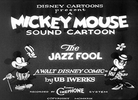Screenshots from the 1929 Disney cartoon The Jazz Fool