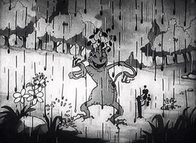 Screenshots from the 1929 Disney cartoon Springtime