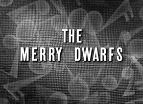 Screenshots from the 1929 Disney cartoon The Merry Dwarfs