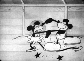 Screenshots from the 1929 Disney cartoon The Barn Dance