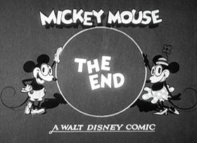 Screenshots from the 1929 Disney cartoon The Opry House