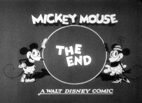 Screenshots from the 1929 Disney cartoon When the Cat