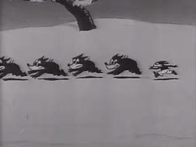 Screenshots from the 1930 Terrytoons cartoon Caviar