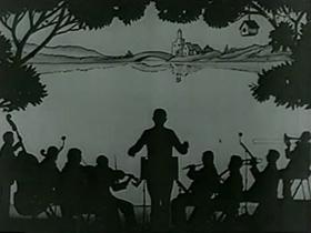 Screenshots from the 1930 Terrytoons cartoon Pretzels