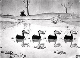 Screenshots from the 1930 Disney cartoon Autumn