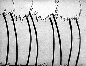 Screenshots from the 1930 Disney cartoon Cannibal Capers