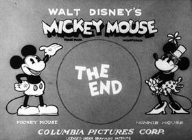 Screenshots from the 1930 Disney cartoon Fiddling Around