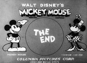 Screenshots from the 1930 Disney cartoon Wild Waves
