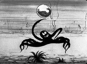 Screenshots from the 1930 Disney cartoon Frolicking Fish